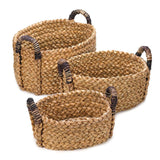 Rustic Woven Nesting Baskets - 3 Pc. Set - Distinctive Merchandise