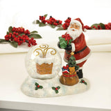Santa And Chimney Led Snow Globe - Distinctive Merchandise