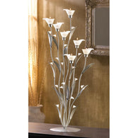 Silver Calla Lily Candleholder - Distinctive Merchandise