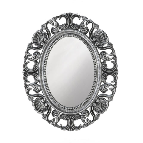 Silver Scallop Wall Mirror - Distinctive Merchandise
