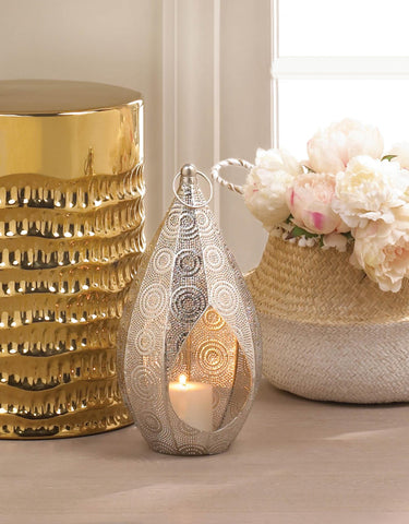Silver Teardrop Lantern - Distinctive Merchandise