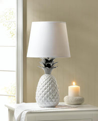 Silver Topped Pineapple Table Lamp - Distinctive Merchandise