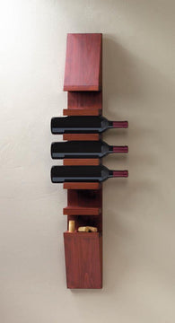 SLEEK WOODEN WINE WALL RACK - Distinctive Merchandise