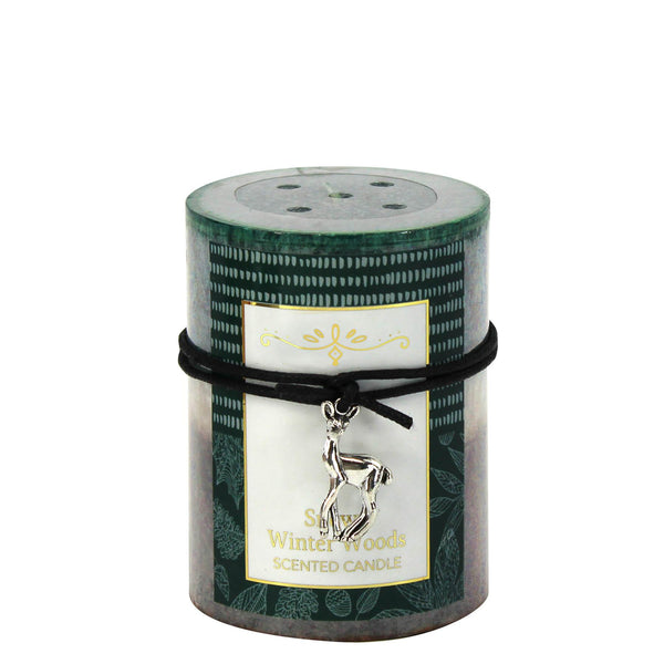 Snowy Winter Woods Scented Candle 3x4 - Distinctive Merchandise
