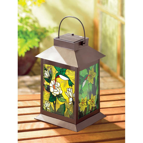 Solar-Powered Floral Lantern - Distinctive Merchandise