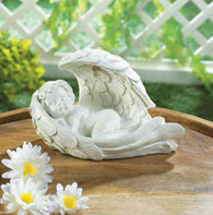 SOLAR PEACEFUL CHERUB FIGURINE - Distinctive Merchandise