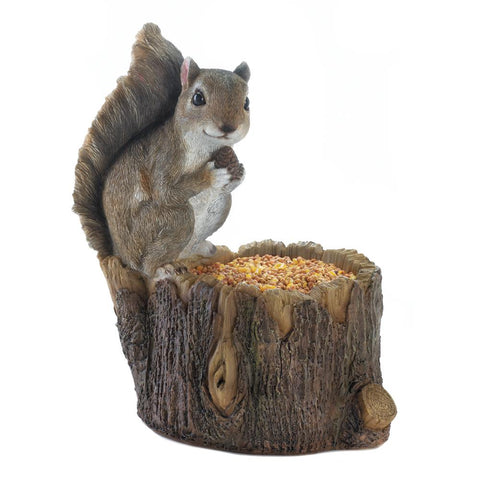 Squirrel Tree Trunk Bird Feeder - Distinctive Merchandise