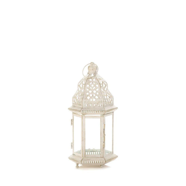 SUBLIME DISTRESSED WHITE LANTERN - Distinctive Merchandise