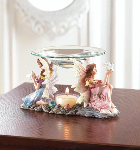 Twin Fairies Oil Warmer - Distinctive Merchandise