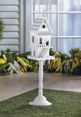 Two Story Pedestal Birdhouse - Distinctive Merchandise