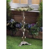 VERDIGRIS LEAF BIRD BATH - Distinctive Merchandise