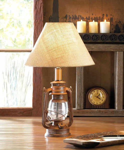 VINTAGE CAMPING LANTERN TABLE LAMP - Distinctive Merchandise