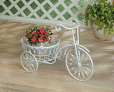 White Bicycle Planter - Distinctive Merchandise