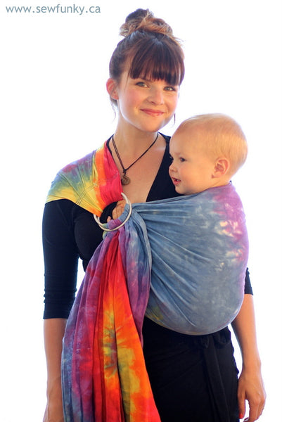Sewfunky Hand Dyed Hemp Cotton Baby Sling