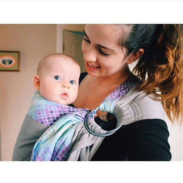 Sewfunky Designer Baby Sling Pixie on Cloud Grey #SF029