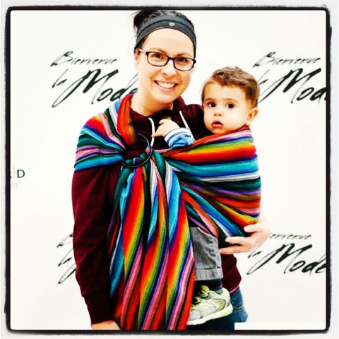 Sewfunky Woven Ring Sling Night Rainbow
