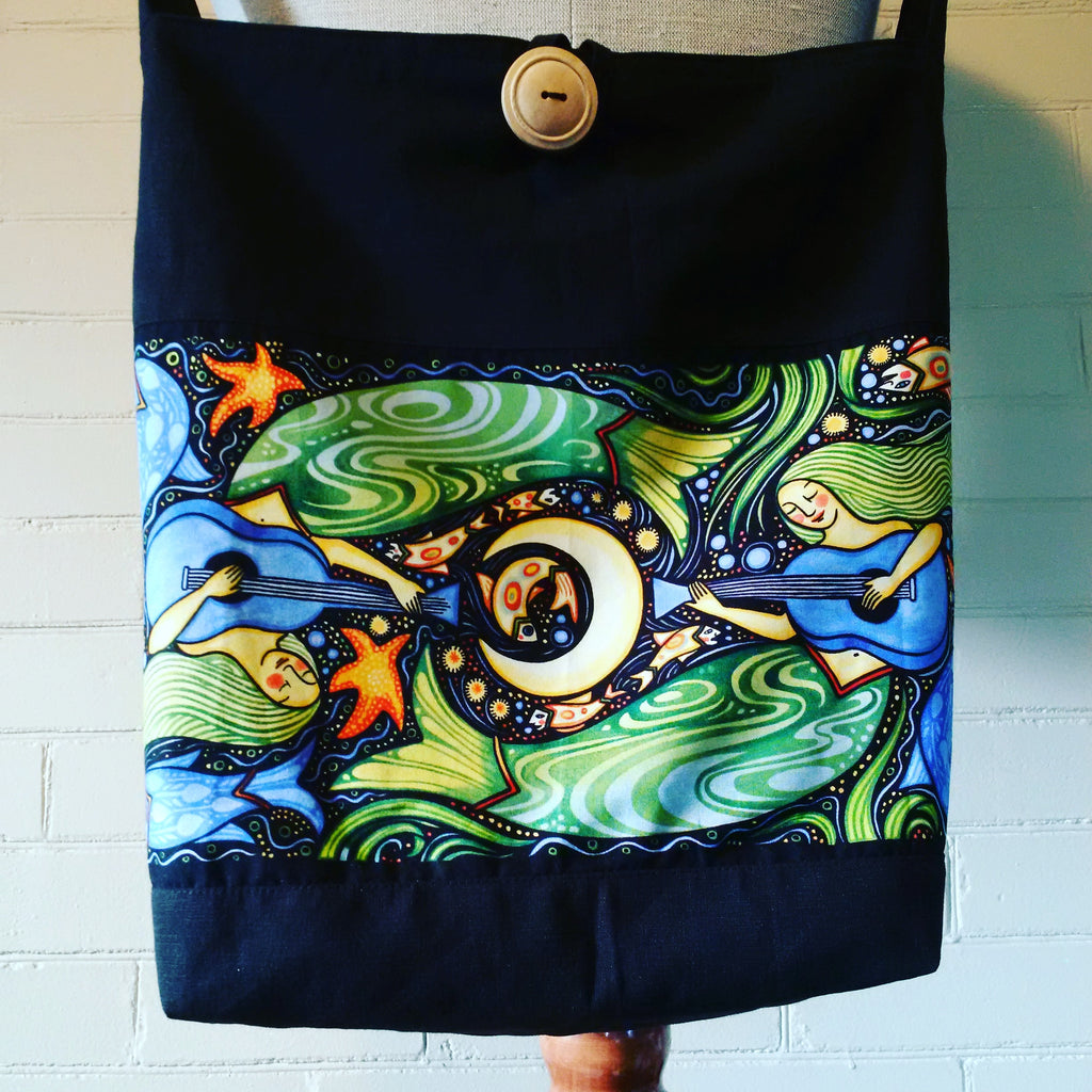 Sewfunky Hemp Musical Mermaids Bag