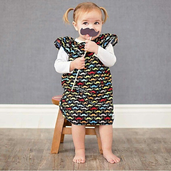Sewfunky Pixie Dress Mustachio