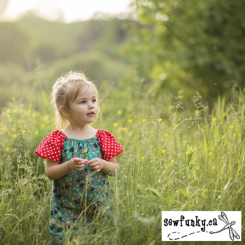 Sewfunky Pixie Dress - Hedgehoglets