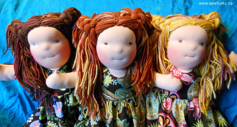 Sewfunky Waldorf Inspired Natural Doll Sisters
