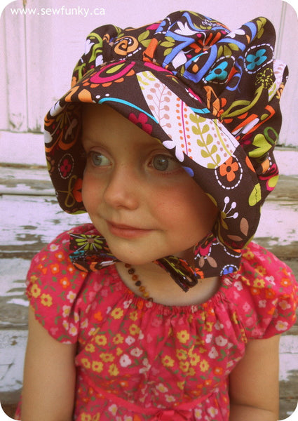 Sewfunky Sun Bonnet - Birds of Norway