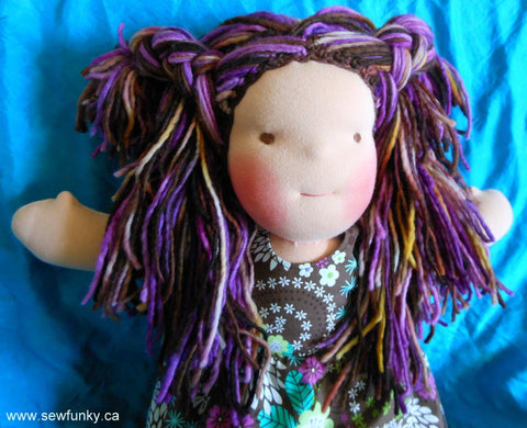 Sewfunky Waldorf Inspired Natural Doll - Pixie