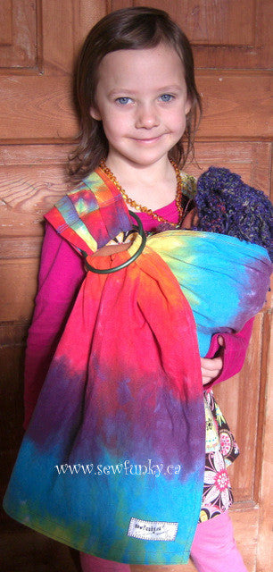 Sewfunky Toy Sling - Rainbow Hand Dyed Hemp