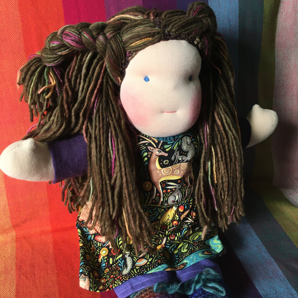 Sewfunky Waldorf Inspired Natural Doll Ready to Ship