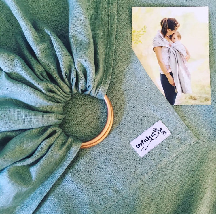 Sewfunky Linen Ring Sling - Willow
