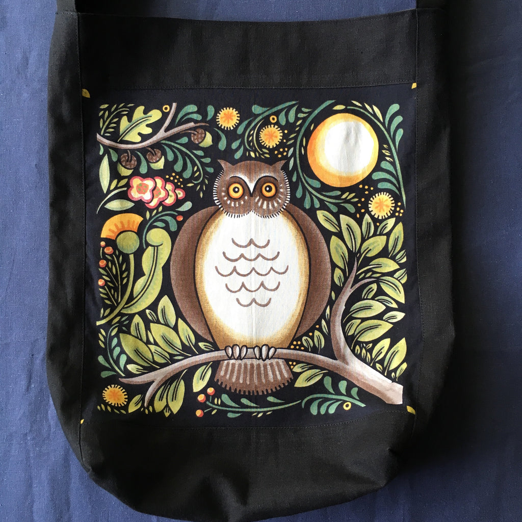 Sewfunky Hemp Owl Bag