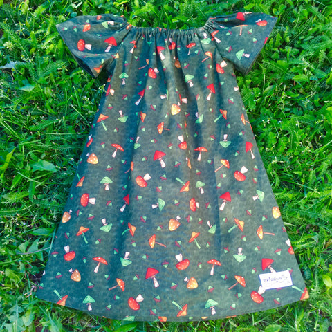 Sewfunky Pixie Dress - Toadstools