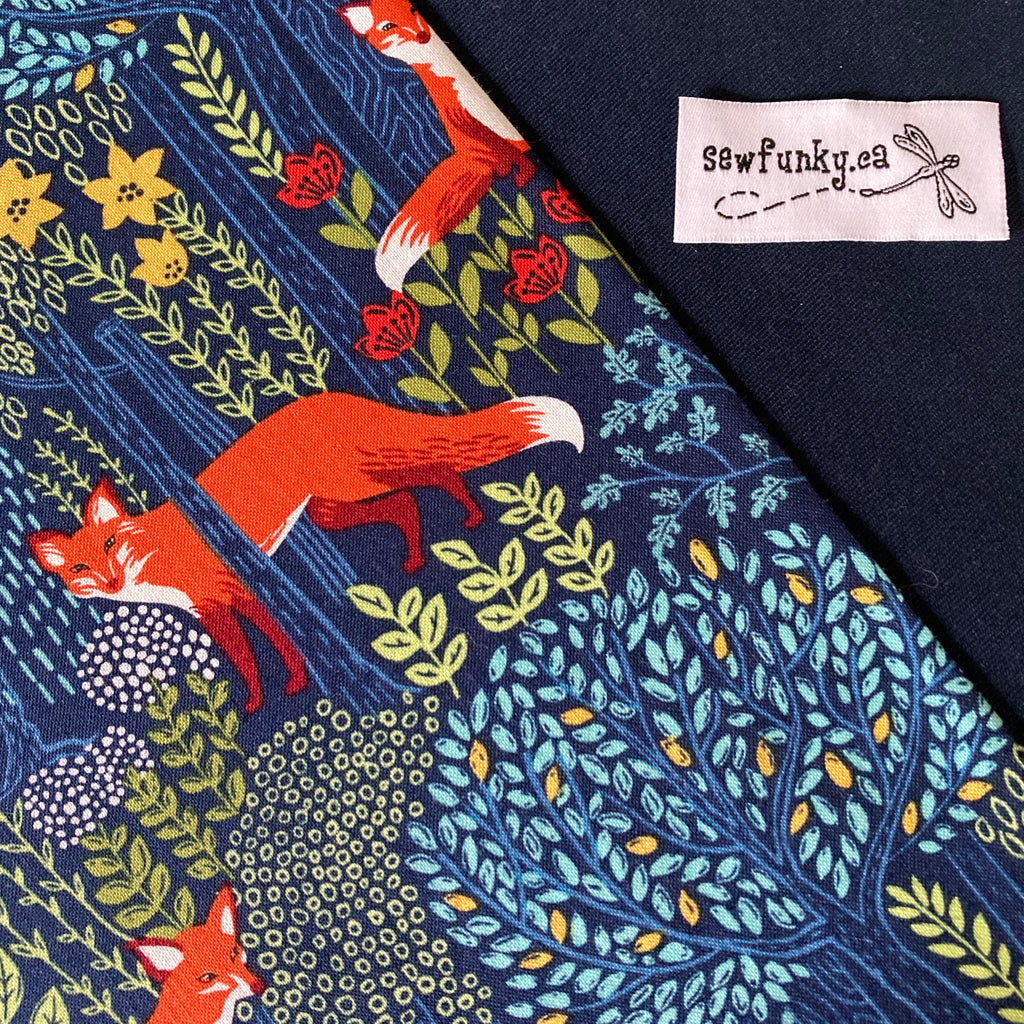 Sewfunky Designer Midwifery Weigh Sling Into the Woods on Navy Organic