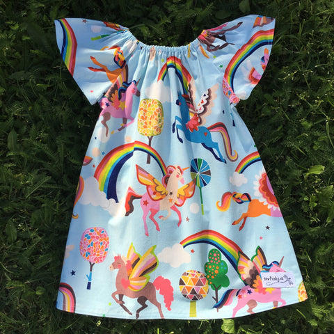 Sewfunky Pixie Dress - Rainbow Pegasus