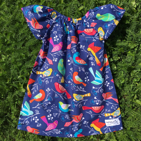 Sewfunky Pixie Dress - Bluebird