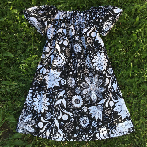 Sewfunky Pixie Dress Star Flower