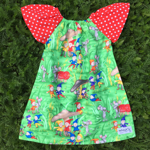 Sewfunky Pixie Dress Gnomes