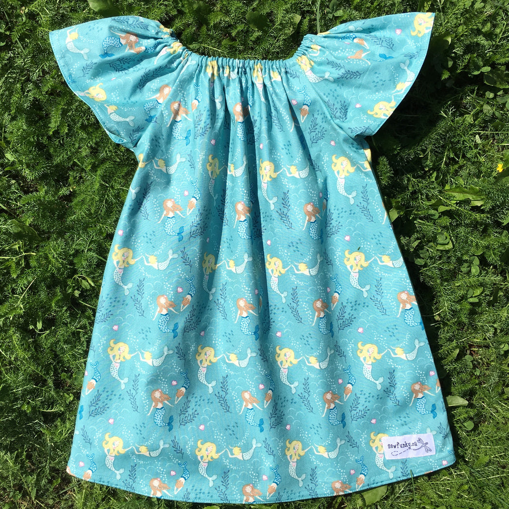 Sewfunky Pixie Dress Mermaid Mama