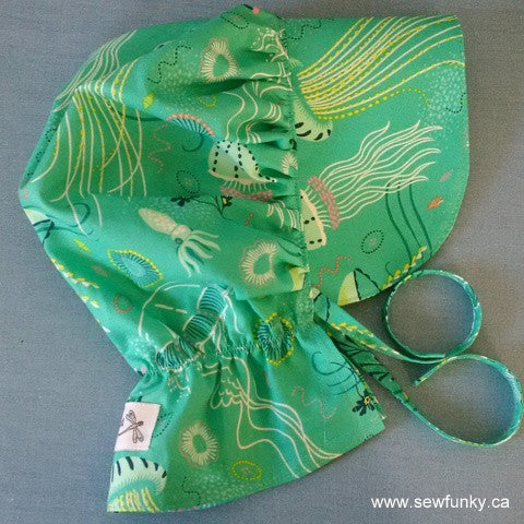 Sewfunky Sun Bonnet - Jelly Fish