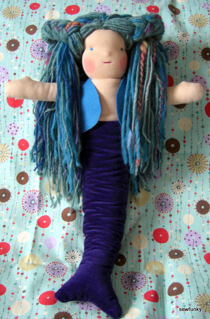 Sewfunky Waldorf Inspired Natural Mermaid Doll