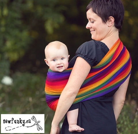 Sewfunky Woven Ring Sling Rainbow