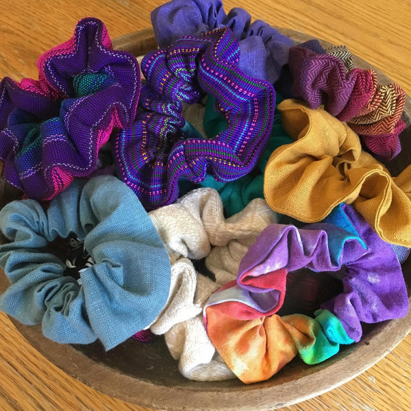 Hand Dyed Hemp Scrunchie