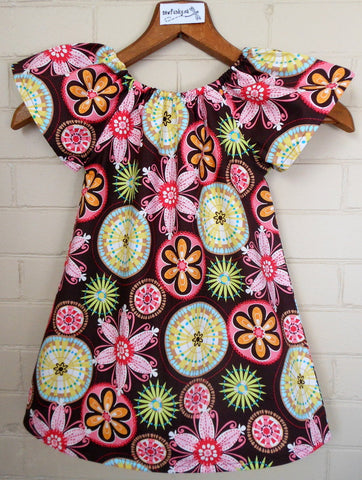 Sewfunky Pixie Dress - Carnival Bloom
