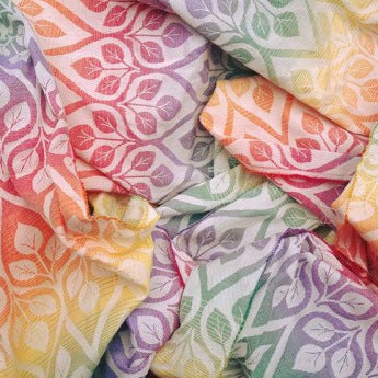 Sewfunky Woven Ring Sling Rainbow Leaves