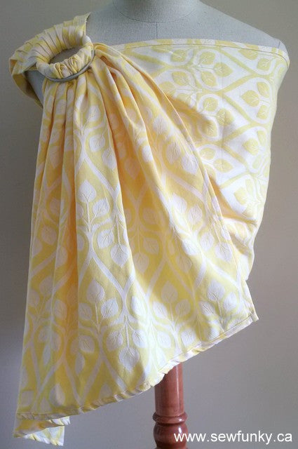 Sewfunky Woven Ring Sling Yellow Leaves