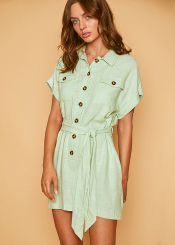 Guava Ruffle Mini Dress