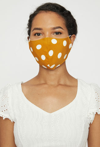 Set of 3 Black Dot Adult Face Mask