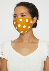 Set of 3 Yellow Dot Adult Face Mask