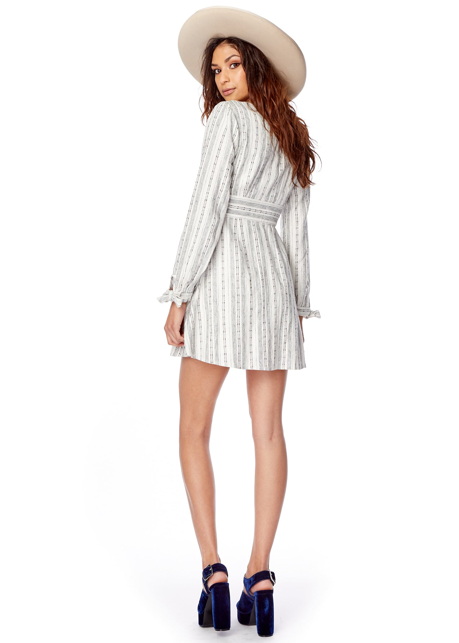 Gypset Stripe Mini Dress