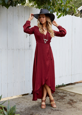 Lost and Wander - Napa Wrap Maxi Dress