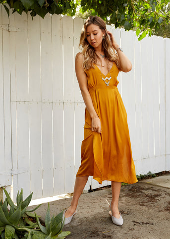 Lost and Wander - Lala Tie Maxi Dress